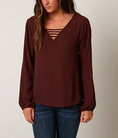 red by BKE Cut-Out Top - Women's Shirts/Blouses   Buckle