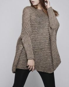 Hey, I found this really awesome Etsy listing at https://www.etsy.com/listing/172208448/oversized-woman-sweater-knit-sweater-in