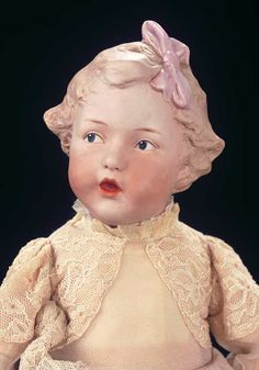 Charming German Bisque Character by Gebruder Heubach Known as The Singer #7764