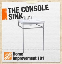 Toilets/plus nifty ideas on Pinterest - Metal Console Sink Stands