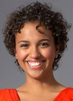 short thick curly African American hairstyle