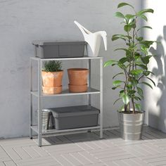 IKEA - HYLLIS, Shelf unit, indoor/outdoor, This shelf must be fastened to the wall. Use fasteners suitable for the walls in your home. Cube Storage Unit, Storage Shelves, Storage Benches, Storage Organizers, Pantry Shelving, Storage Cabinets, Under Sink Storage Unit, Linen Storage, Small Shelves