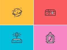 A few process icons created for the MilesHerndon brand—using our new illustration/icon style. • Launch Meeting • Project Charter • Interview • Research Report More from the rest of the MilesHernd...