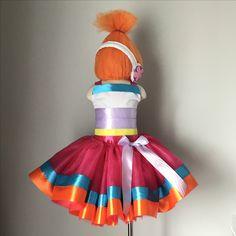 trolls tutu costume, orange troll, dj suki inspired costume, dj suki tutu dress, trolls costume