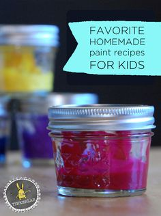 Favorite Homemade Paint Recipes - Kid-tested for Success
