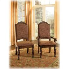 Ashley - Dining Uph Arm Chair (2/Cn) - D55302A - North Shore Furniture Collection -  Price: $229 - http://www.keyhomefurnishings.com