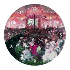Fine art acrylic wall clock with art depicting a ballroom dance gathering in beautiful pink, purple, peach and green colors. Vintage Wedding Gifts, Peach And Green, Wall Clock Design, Sentimental Gifts, Wall Clocks, Unique Vintage, Green Colors, My Design, Ballroom Dance