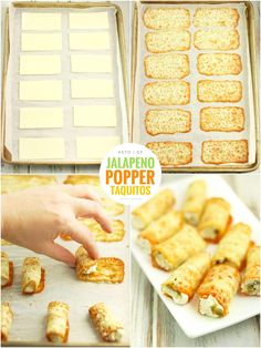 These Keto Jalapeño Popper Taquitos are Made with Only 4 Ingredients. They're quick to make and have 1 g Net Carbs per 2 Taquitos Low Carb Keto, Low Carb Recipes, New Recipes, Favorite Recipes, Easy Recipes, Healthy Recipes, Bariatric Recipes, Healthy Options, Healthy Food