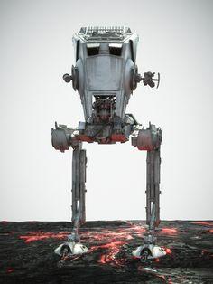 Star Wars Battlefront Key Art by Brendan McCaffrey | Abduzeedo Design Inspiration