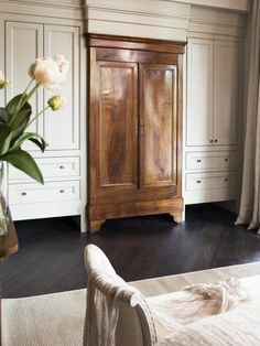 built in french armoire closet | Storage Ideas for Master Bedrooms