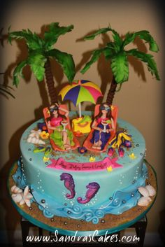 Sandra's Cakes: Beach Themed 40th Birthday