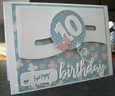 Made by Alina: Happy Birthday! Fun Fold Cards, 3d Cards, Xmas Cards, Folded Cards, Special Birthday Cards, Birthday Cards For Women, Handmade Birthday Cards, Happy Birthday, Handmade Cards