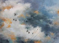 Tammy Shane Artist Gallery, Canadian Artists, Painting & Drawing, Clouds, Fine Art, Drawings, Illustration, Outdoor, Typewriter