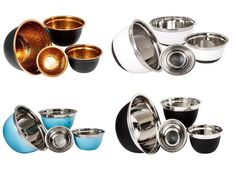 4 pc Stainless Steel Mixing Bowls - Mixing Bowl Set - Salad Bowl Set - 4 Bowl Sets for Kitchen - Serving Bowl Set (White) ... (This is an affiliate link) Top 10 Christmas Gifts, Thoughtful Christmas Gifts, Serving Bowl Set, Italian Cooking, Mixing Bowls, Cooking Utensils, Salad Bowls, Hostess Gifts, Nespresso
