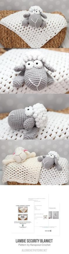 Lambie security blanket crochet pattern