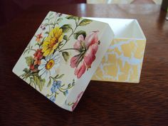 Fina e Rica Decor : Aprenda a encapar uma caixa de mdf com tecido