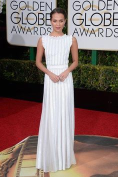 Alicia Vikander in Louis Vuitton–and 13 other best dressed celebrities at the Golden Globes