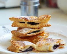 Puff Pastry Turnovers Filled With Plum Jam Egg Yolkeat
