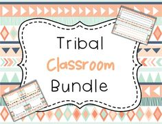 Tribal Classroom Bundle - Navy and Coral