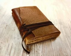 The Manuscript  Leather Journal Notebook Diary by MedievalJourney, $52.00