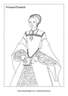 tudor kings and queens coloring pages