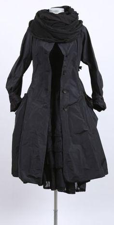 mo koshji - Mantel Mantelkleid Seide Mix black - stilecht - mode für frauen mit format...