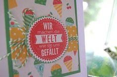 Bastelabend bei Petra, Kindergeburtstag, Sprüchefeuerwerk, In Color 2015-2017, Grasgrün, Melonensorbet, Geburtstagskarte