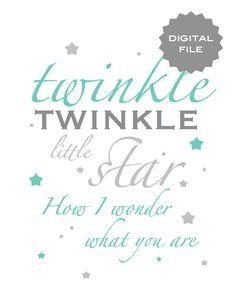 Twinkle twinkle little star baby room printable