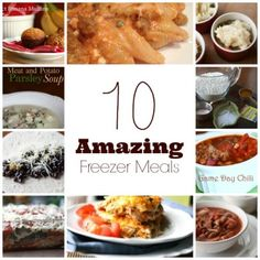 Amazing Freezer Meals: Spicy Sausage Pasta Bake, Shepherd's Pie, Game Day Chili, Black Bean Enchiladas, Veggie Lasagna, Perfect Banana Muffins, No-Fuss Pizza Dough, Chicken Enchilada Casserole, Meat and Potato Parsley Soup, Kielbasa Chili