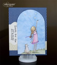 {reach for the stars} - Created by Phyllis Harris sold at Unity Stamp Company