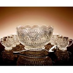 crystal punch bowl set.