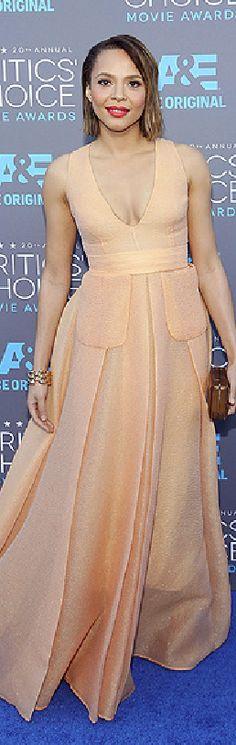 Carmen Ejogo in Emilia Wickstead at the 2015 Critics' Choice Awards