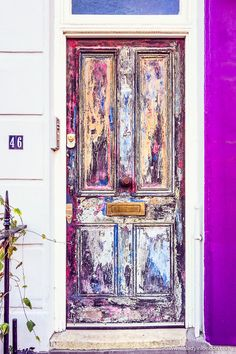 The prettiest houses in London! This colorful door in Pimlico is just one example of the lovely houses in the city. - March 15 2019 at Celtic, Uk Capital, Wooden Door Design, Boho Kitchen, Pink Houses, Dog Houses, Good House, House Entrance, Home Trends