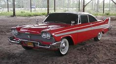 The Top Ten Baddest Movie Cars - The demonic, self-healing, self-aware 1958 Plymouth Fury from the 1983 film Christine.