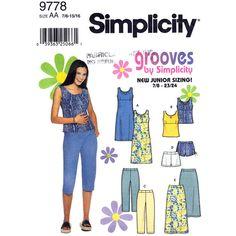 Junior Pattern Simplicity 9778 Dress Top by finickypatternshop, $7.75