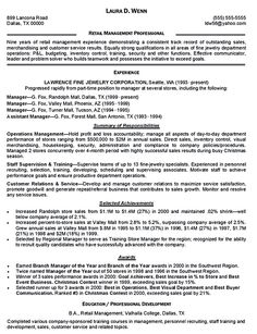 find this pin and more on resume samples retail manager - Retail Manager Resume Template