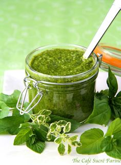 Fresh Herb Chimichurri Sauce (Argentinian version of pesto) this version has included basil, cilantro, parsley and mint!