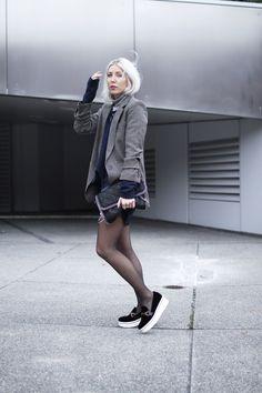 Turtleneck, Rollkragen, Blogger, Asos, Karierter Blazer, Zara, Denim, Platflormloafer, Stella McCartney, Vegan Fashion, ootd, outfit, style, streetstyle, look, lotd, Fall, Fashion, Blog, stryleTZ