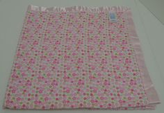 Carters Child of Mine Baby Security Blanket Pink Green Flowers Satin Trim Floral #ChildofMine http://stores.ebay.com/Lost-Loves-Toy-Chest/_i.html?image2.x=0&image2.y=0&_nkw=carters+blanket