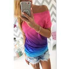 Rainbow t shirt colorful summer!