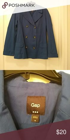 Gap peacoat This is a dark blue pea coat made by Gap in great condition. It's not super heavy more like a cargo material GAP Jackets & Coats