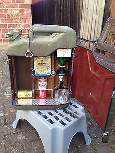 upcycled jerry can * mini bar * ideal gift * camping accessory, Wohnzimmer