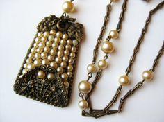 Vintage 40s Miriam Haskell Style Baroque Pearl by SoCalJewelBox, $115.00