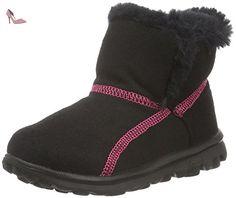 Skechers  GO WalkArctic, Bottes courtes avec doublure chaude fille - Noir - Noir (Bkhp), Taille 33 - Chaussures skechers (*Partner-Link)