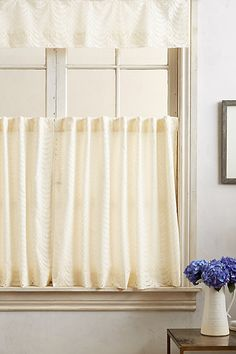 Scalloped Lace Cafe Curtain - anthropologie.com