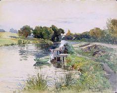 Anna Maria Gardell-Ericson (Swedish artist) 1853 - 1939 Ronnebyån, 1889
