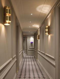Flemings Mayfair, Luxury Hotel in London, United Kingdom - HOTEL - everythink - Now showing photo Corridor - Hotel Hallway, Hotel Corridor, Flur Design, Plafond Design, Home Room Design, Home Interior Design, House Design, Hallway Designs, Small Luxury Hotels