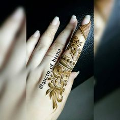 #Ånam khan*** Finger Henna Designs, Mehndi Designs For Girls, Arabic Henna Designs, Stylish Mehndi Designs, Mehndi Designs For Fingers, Fingers Design, Beautiful Henna Designs, Simple Mehndi Designs, Bridal Mehndi Designs