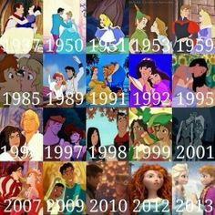 Disney couples through the years:)