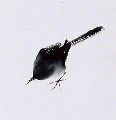 qin tianzhu sumi-e Japanese Painting, Japanese Art, Chinese Painting, Sumi E Painting, Watercolor Paintings, Art Chinois, Art Aquarelle, Tinta China, Art Japonais